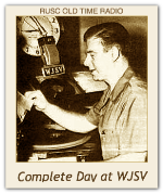 Complete day at WJSV - 21st Sept 1939