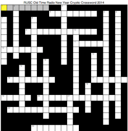 New Year Old Time Radio Crossword 2014